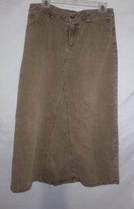Cato Tan Jeans Midi Skirt Size 12